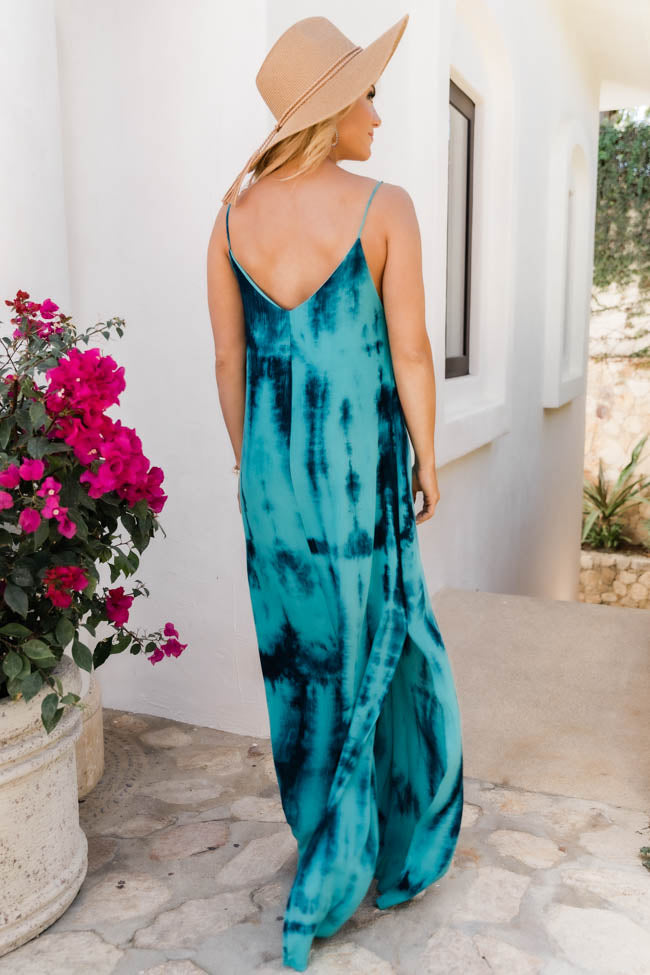 Continuous Love For You Tie Dye Maxi Blue Dress