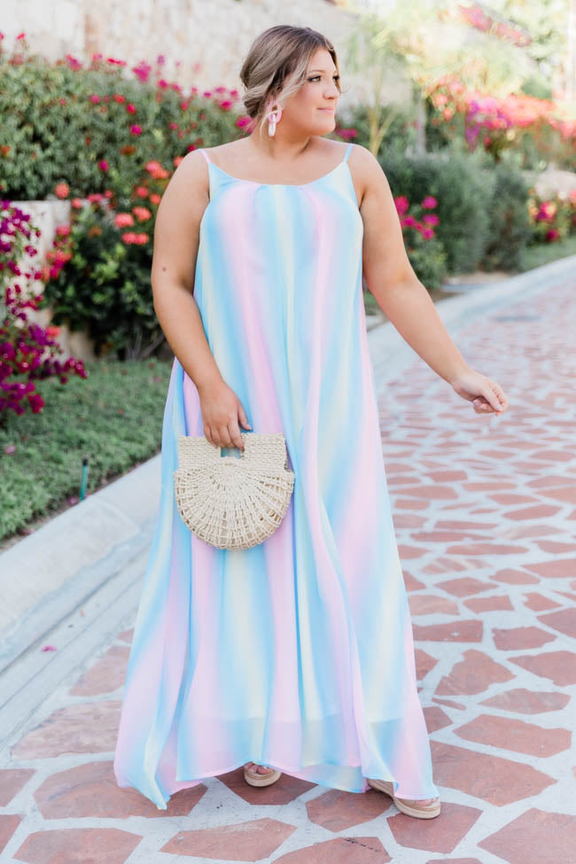 Oceans Of Love Multi Ombre Maxi Dress
