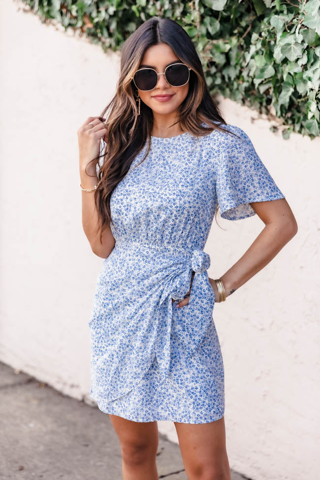 Stylish And Chic Floral Blue Dress