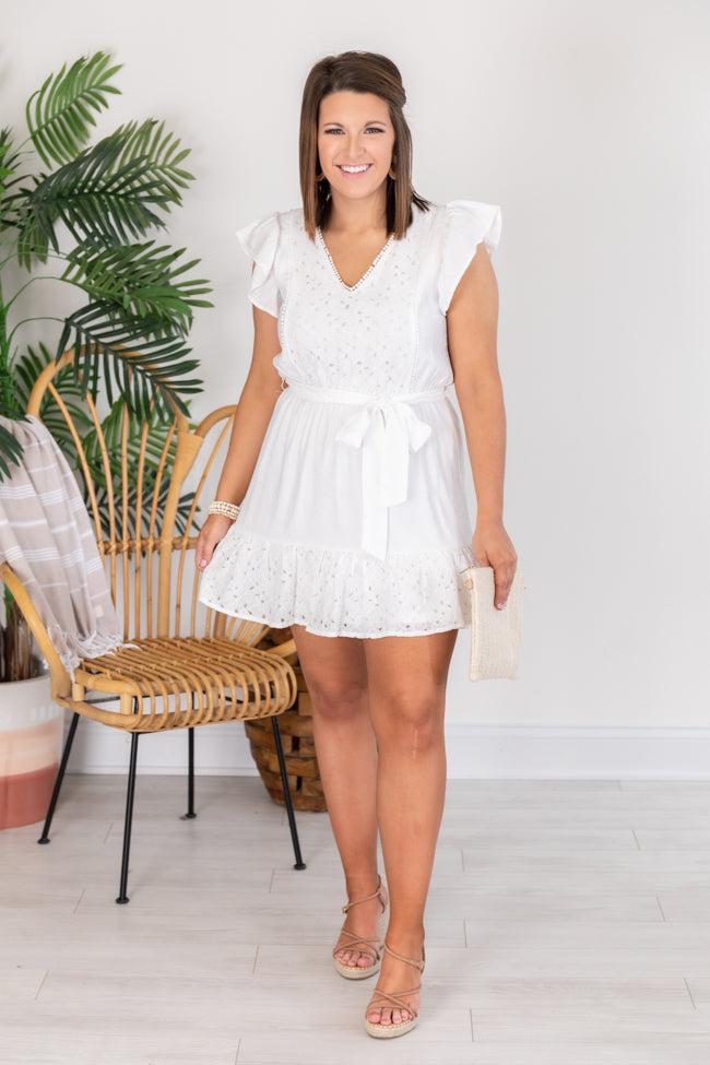 Riverside Daydream Lace White Dress