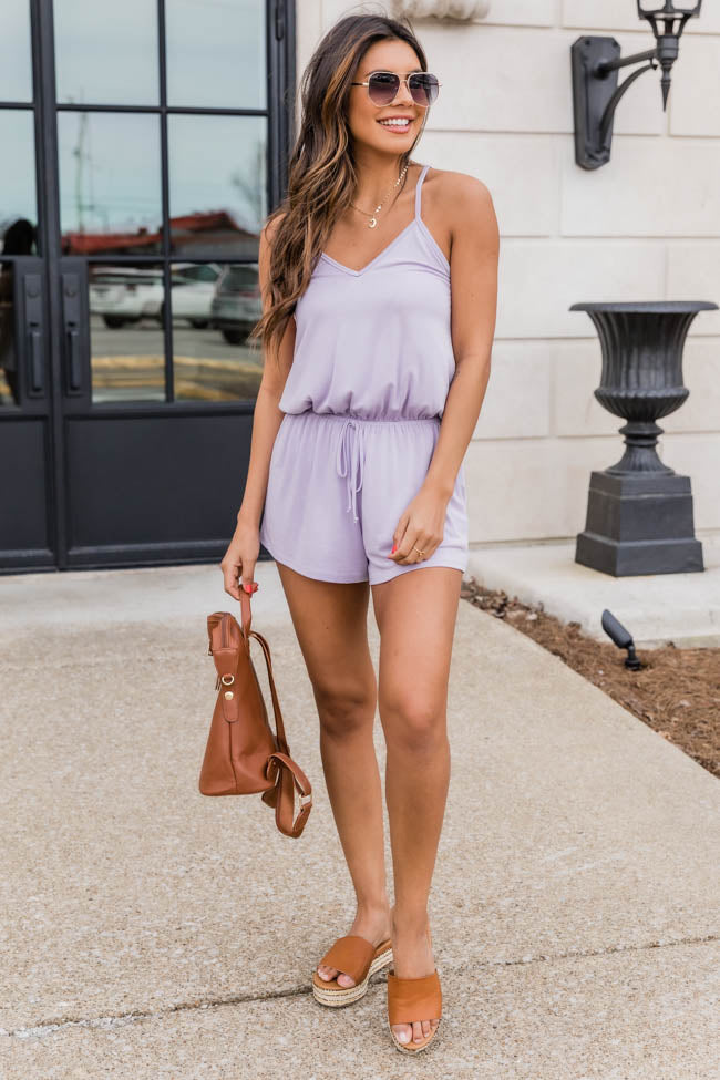 Uptown Girl Lilac Romper
