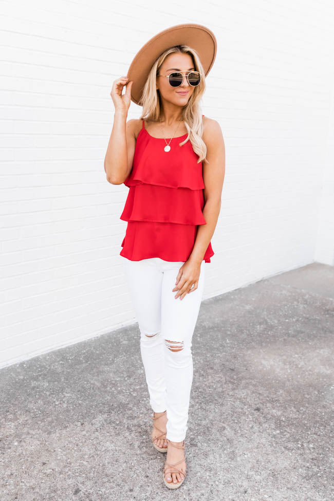 Colors Of Summer Red Tank