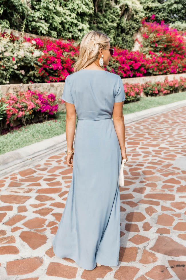 A Magnificent Night Light Blue Maxi Dress