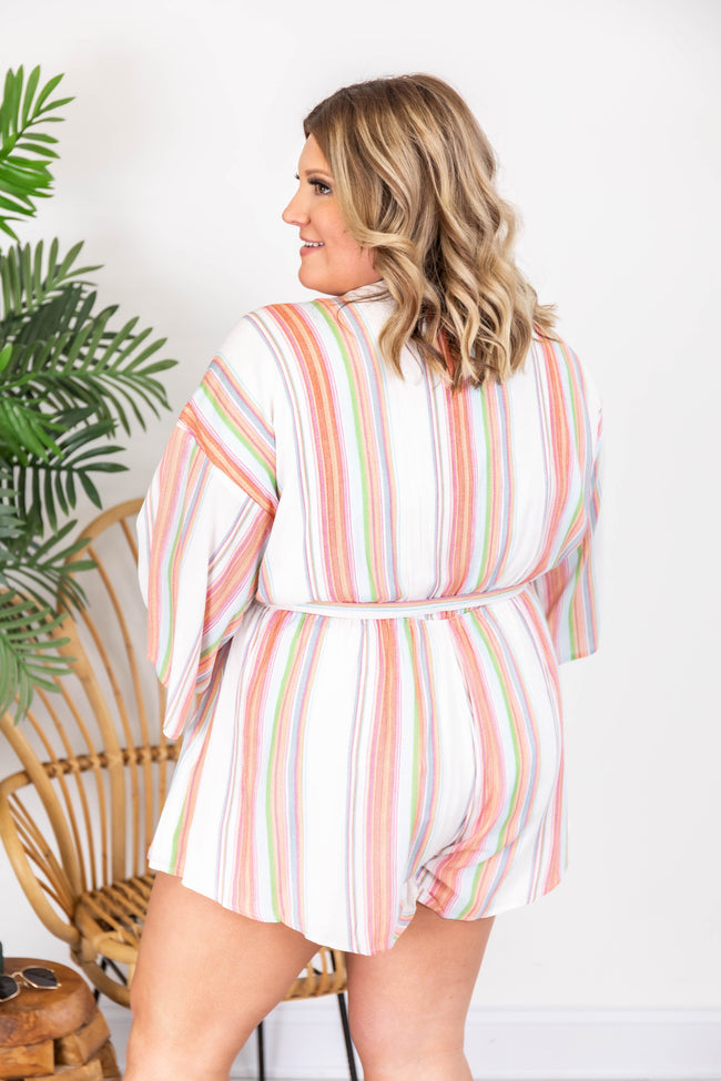 Trusting In You Striped Multi Romper