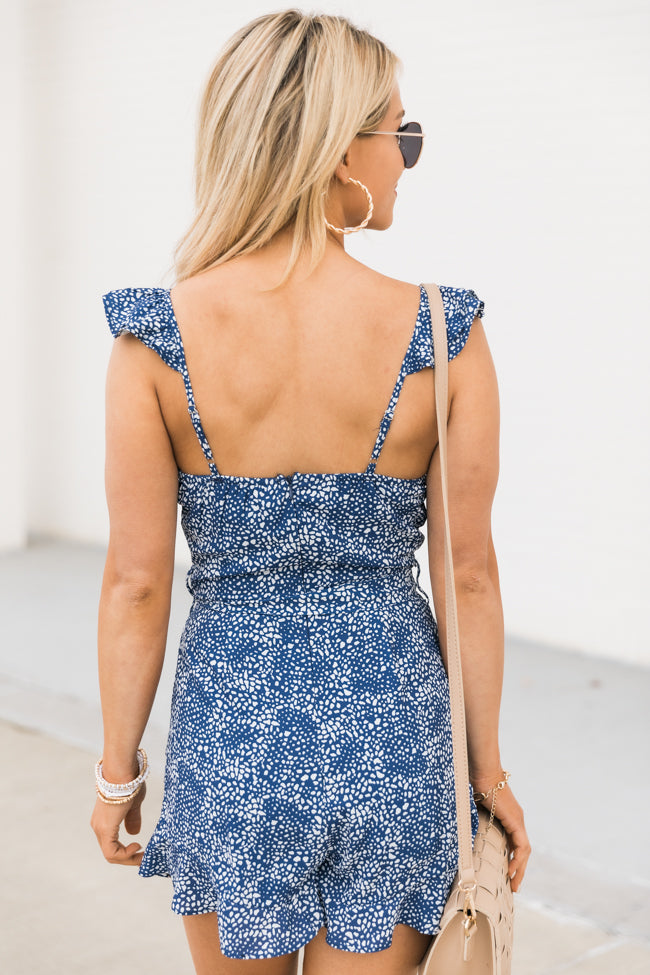 Seeking Someday Navy Romper