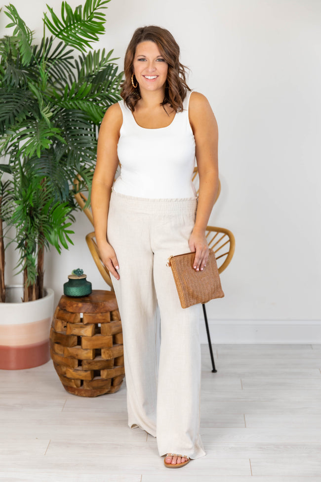 Stolen Kiss Taupe Beach Pants