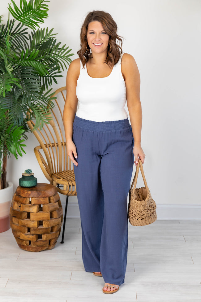 Stolen Kiss Navy Beach Pants