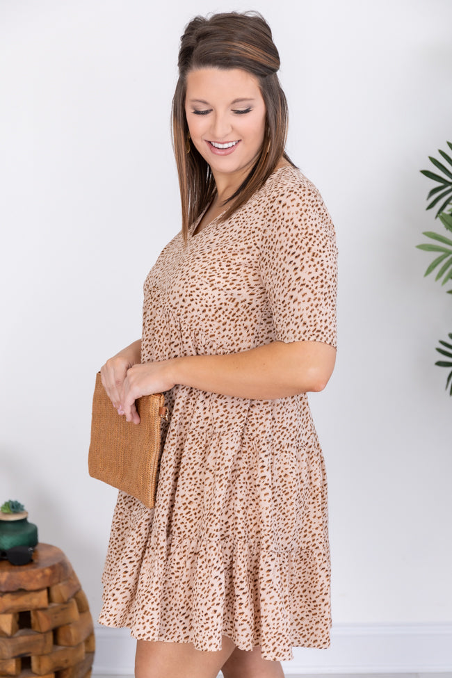 Thoughts Of You Animal Print Babydoll Dress