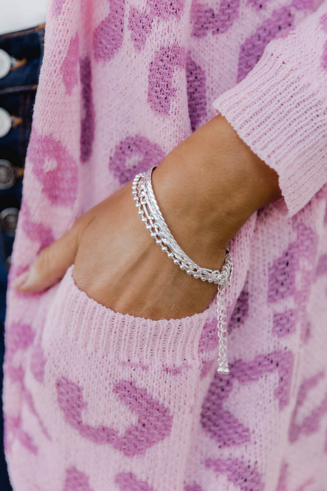 Simple Memory Silver Chain Bracelet