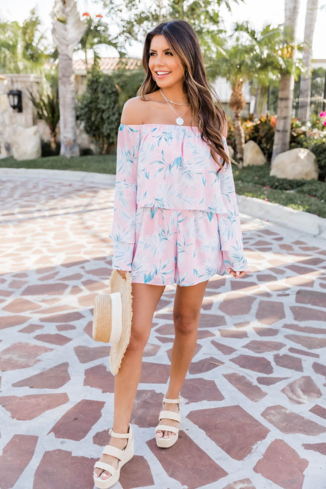 Dramatic Dreams Pink Printed Romper