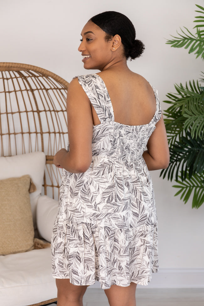Yesterday's Gone Printed Ivory Dress