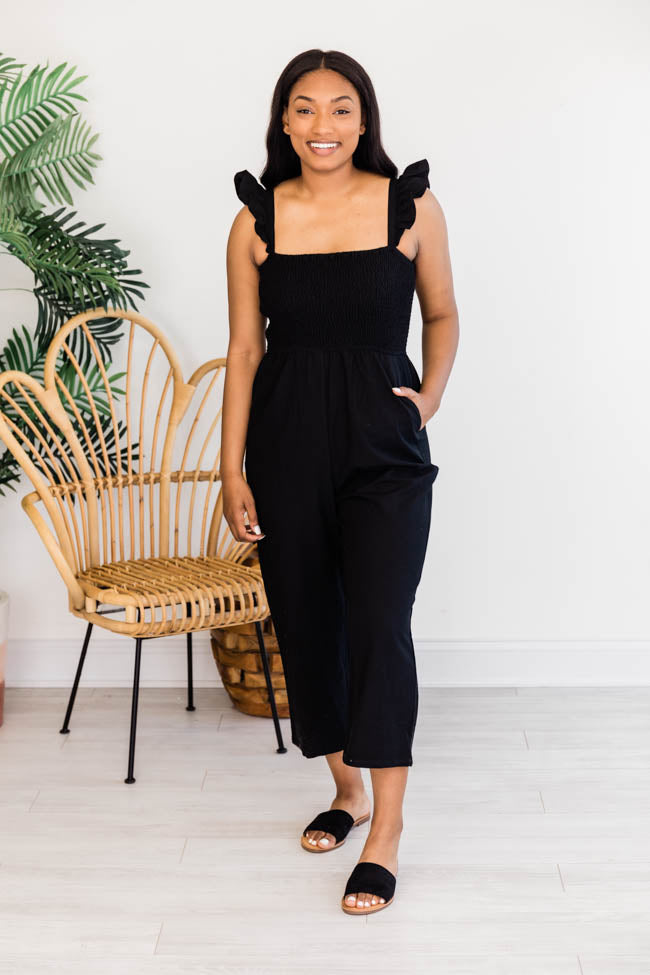 Perfectly Poised Black Jumpsuit