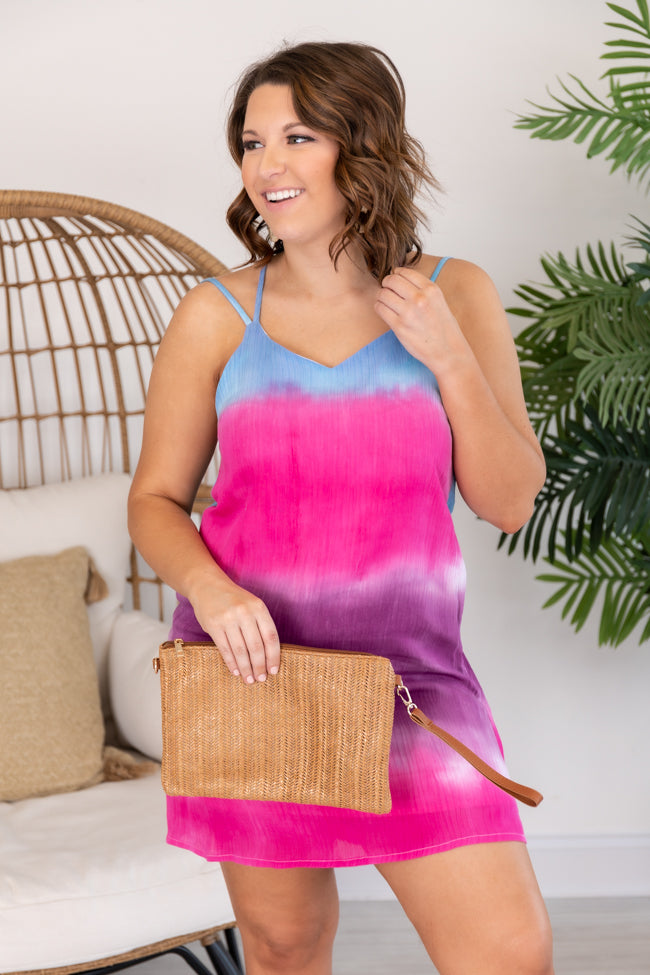 Drift into the Sunset Dip Dye Pink Dress