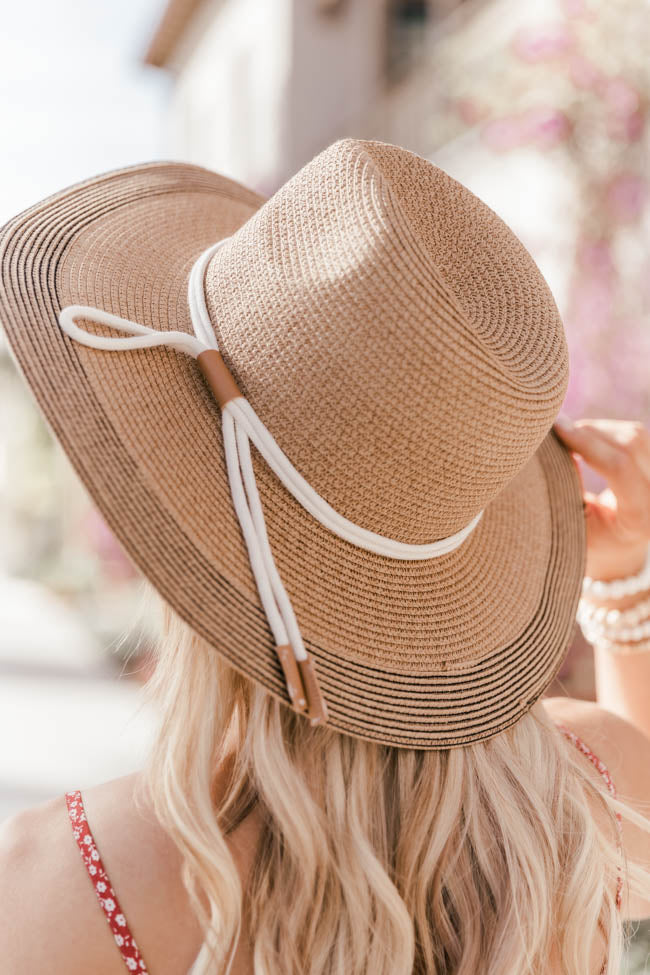 Lift Your Spirits Brown Straw Hat