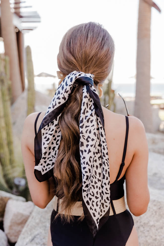 CAITLIN COVINGTON X PINK LILY Barbados Animal Print Hair Scarf