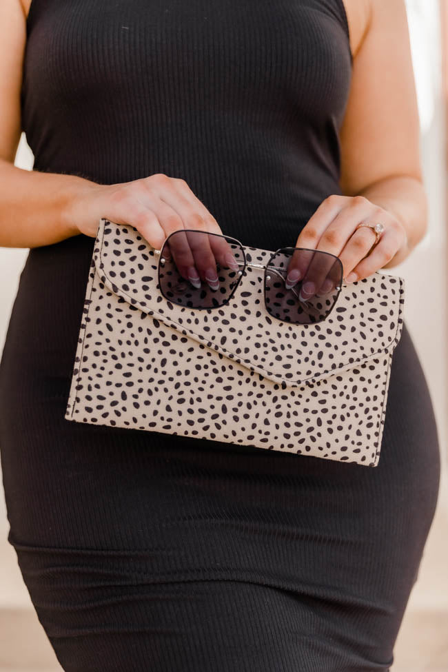 Late Night Dreams Spotted Clutch