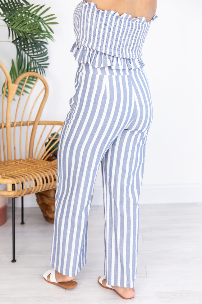 Streets Of Memories Striped Blue Pants
