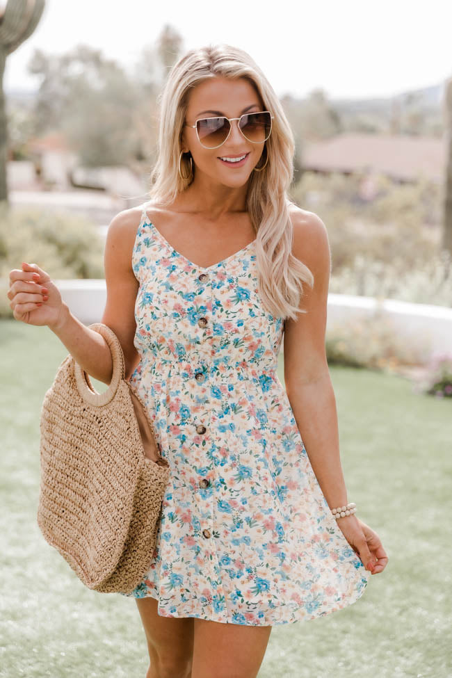 Marigold Mornings Floral Multi Mini Dress