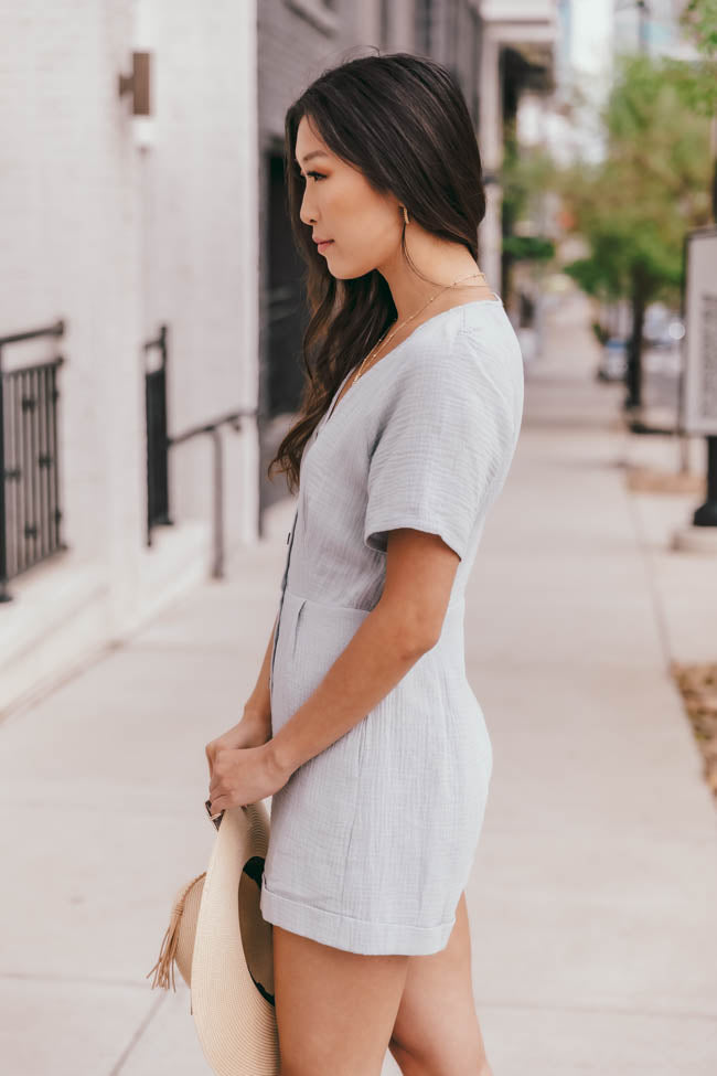 My First Impression Blue Romper