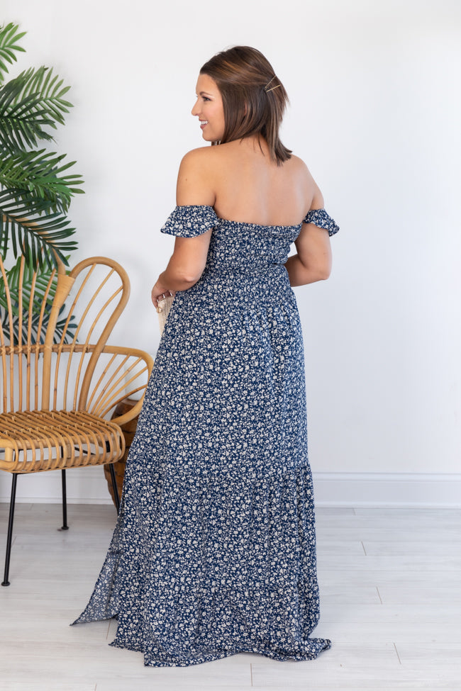 Lovely Afternoon Navy Maxi Dress