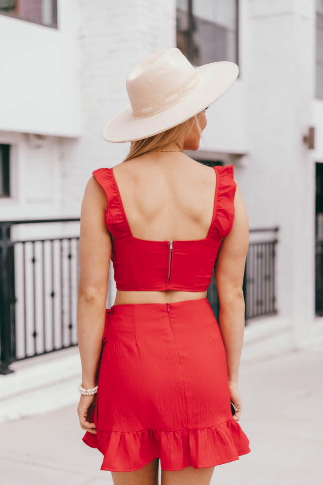 Meant To Be Two Piece Red Set