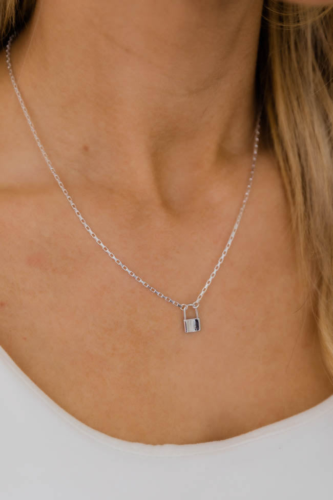 Undeniable Romance Silver Lock Necklace