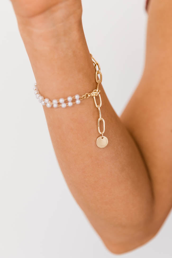 A New Meaning Pearl/Chain Bracelet