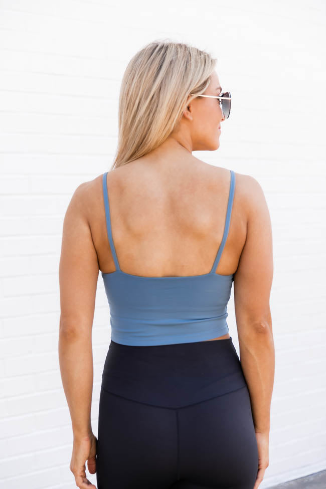 Let's Seize The Day Blue Bra Top