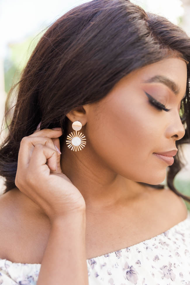 Rise And Shine Gold Earrings