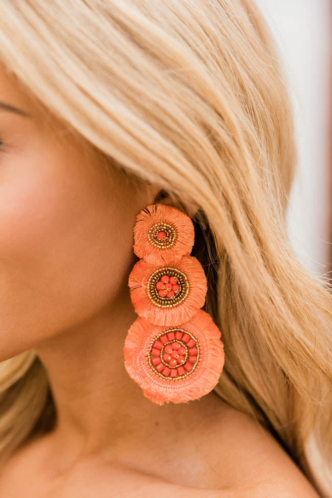 All Summer Long Layered Orange Earrings