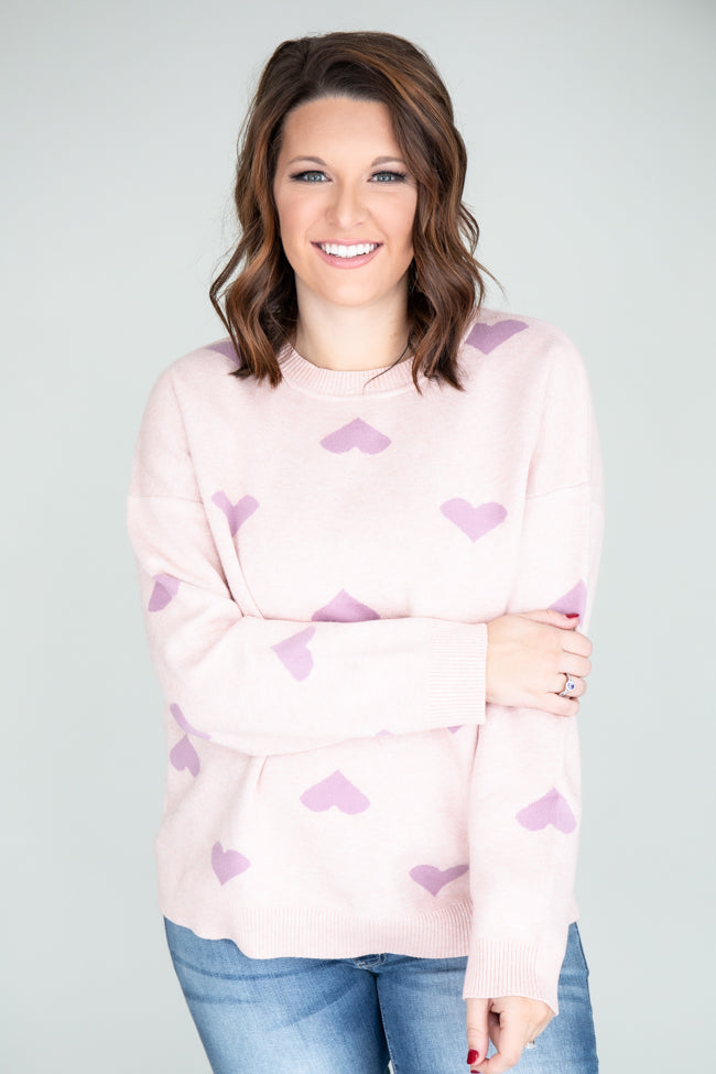 Sweeter Than Your Heart Purple Sweater FINAL SALE