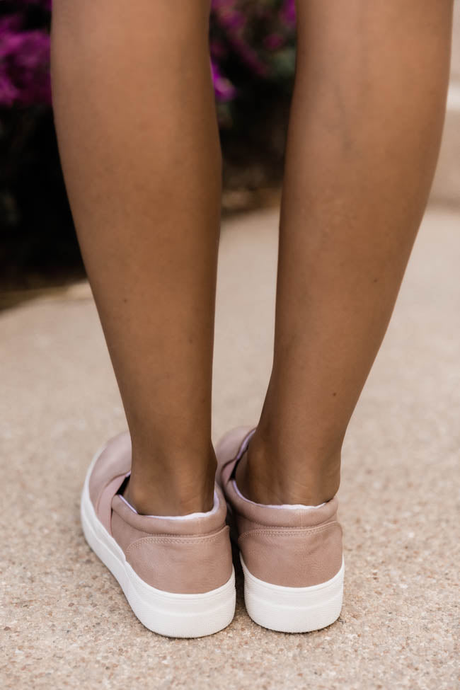 Penelope Slip On Mauve Sneakers