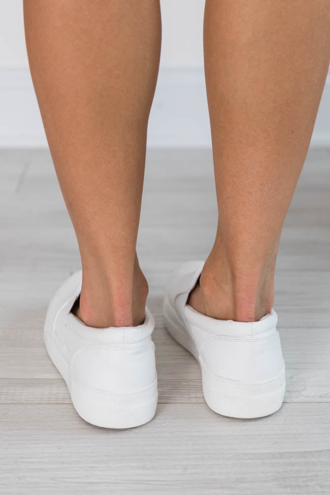 Penelope Slip On White Sneakers