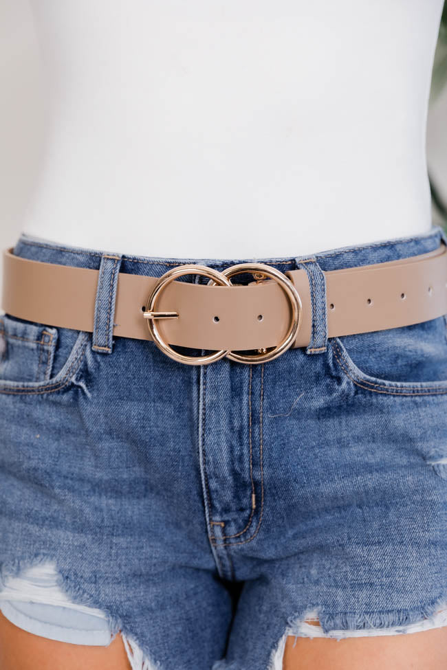 Count Your Blessings Circle Taupe Belt