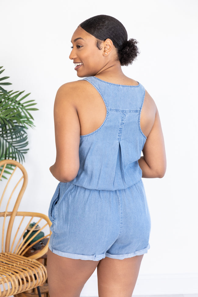 Walking Away Navy Romper