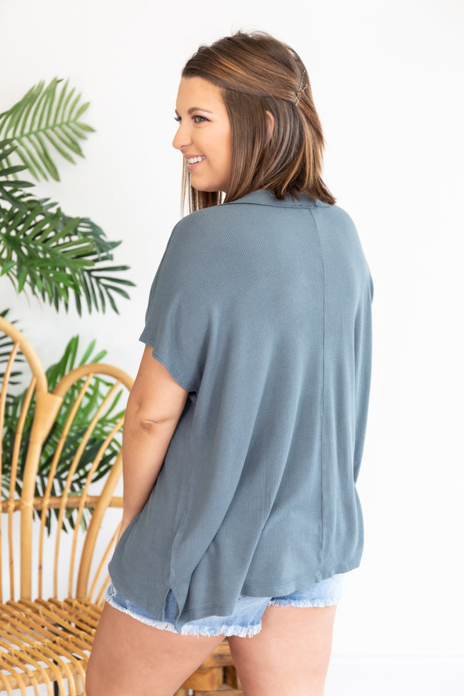A Glorious Time Slate Blouse