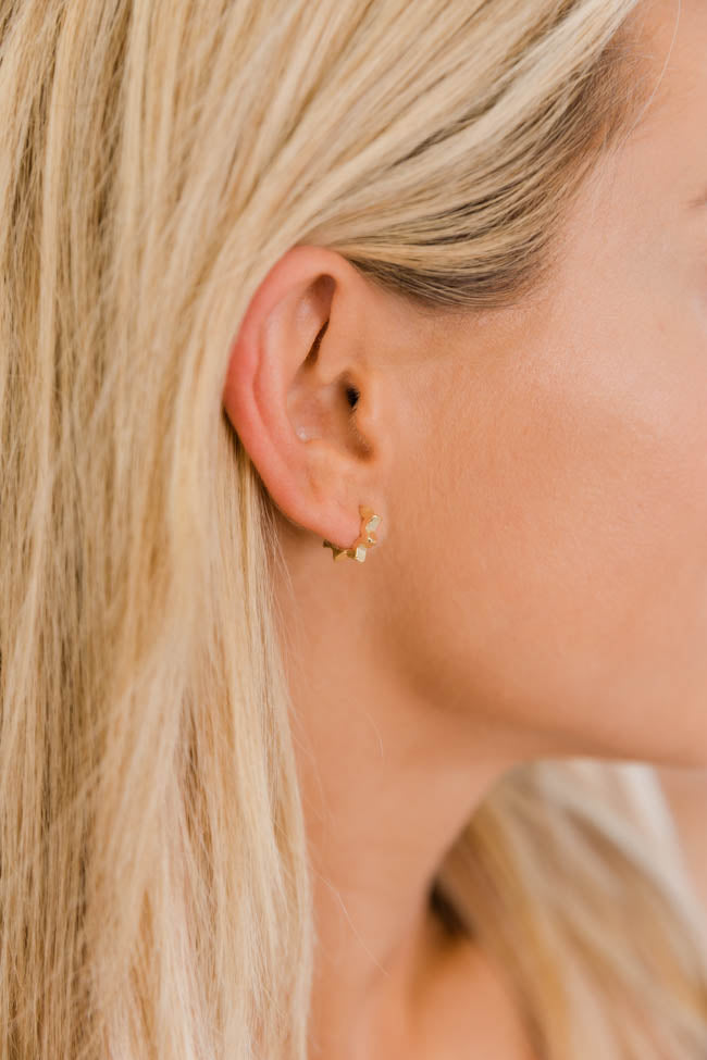 Every Moment With You Gold Zig-Zag Earrings