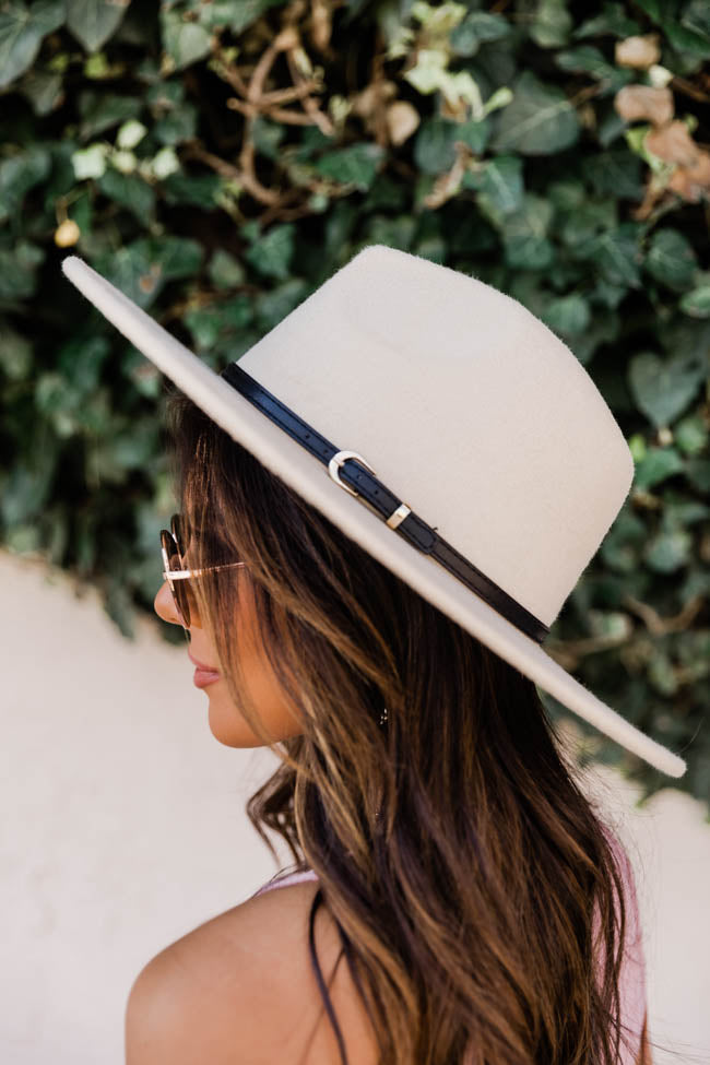 A Familiar Song Beige Wide Brim Fedora Hat
