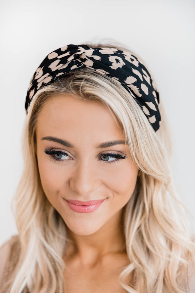 Sing The Words Leopard Black Headband