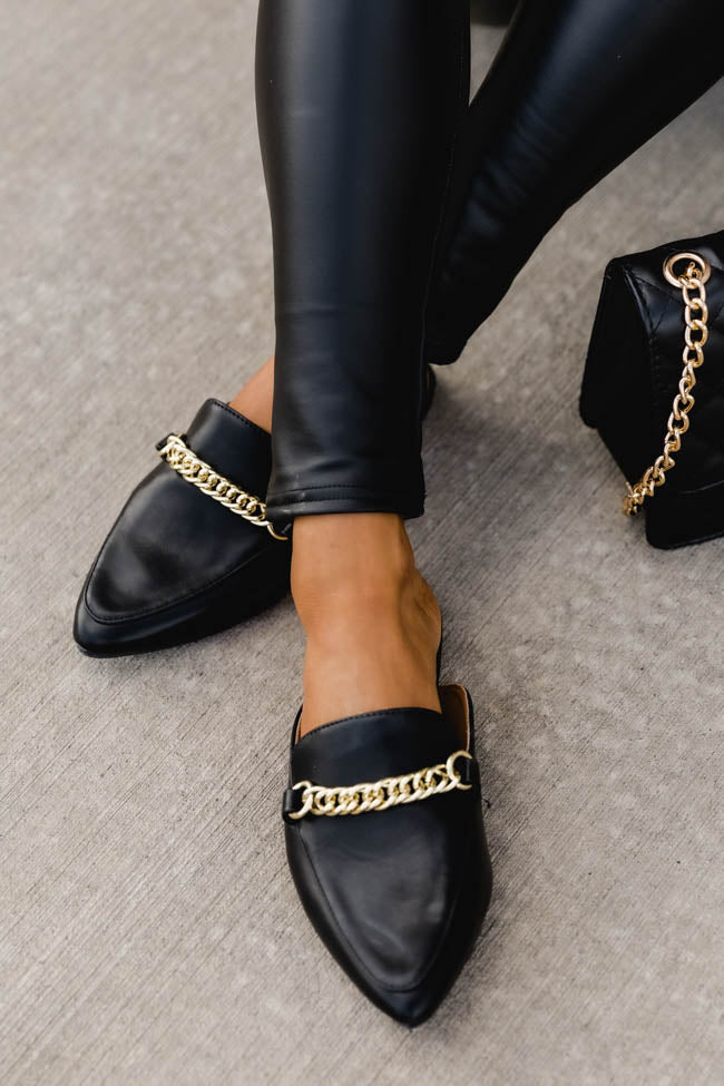 Millie Leather Black Mules