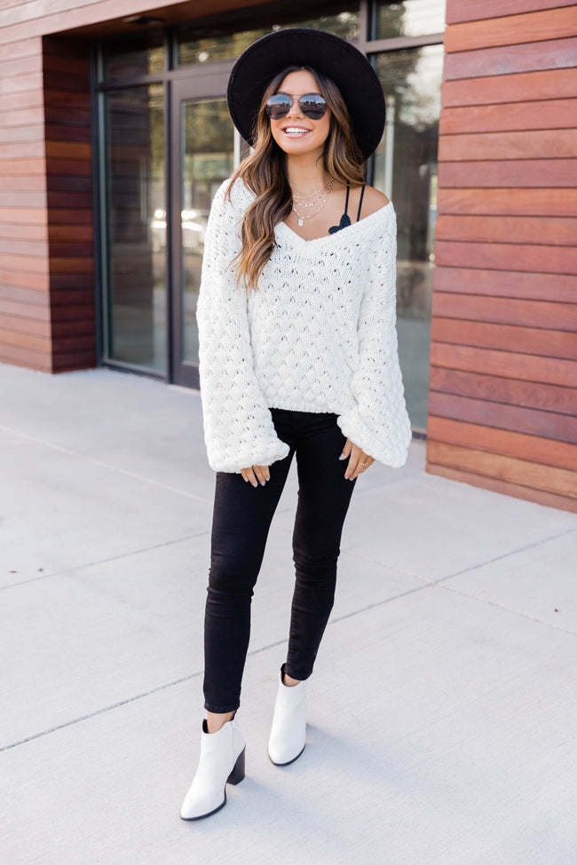 Better Than That Chunky Cropped Sweater Cream