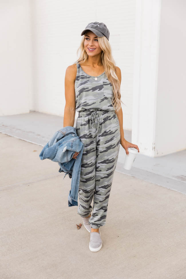 No Doubts Camo Tank Jumpsuit