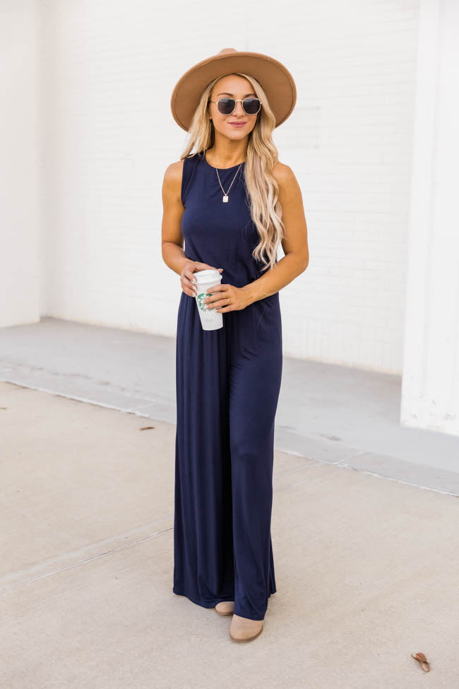 So Much Love Navy Jumpsuit