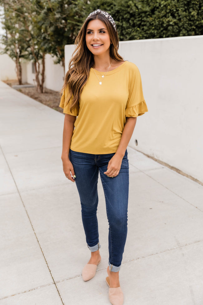 A Grand Idea Blouse Yellow CLEARANCE