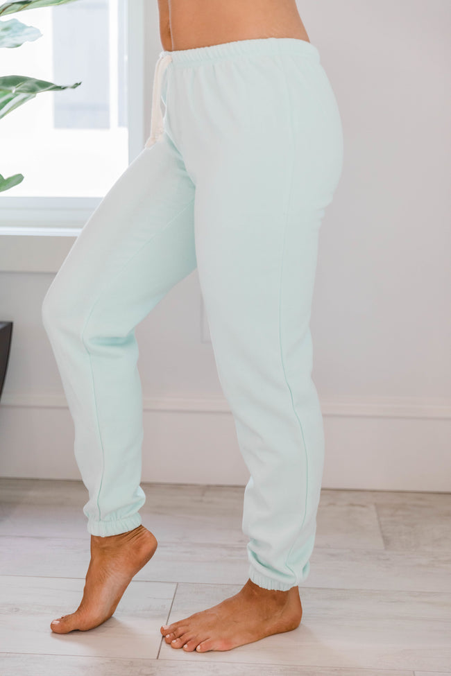 Cut To The Chase Solid Joggers Mint