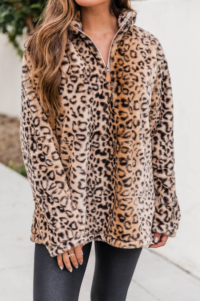 Delight My Heart Animal Print Pullover FINAL SALE