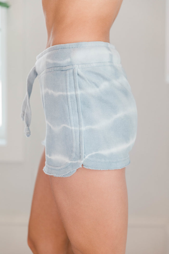 Chase a Dream Tie Dye Shorts Grey