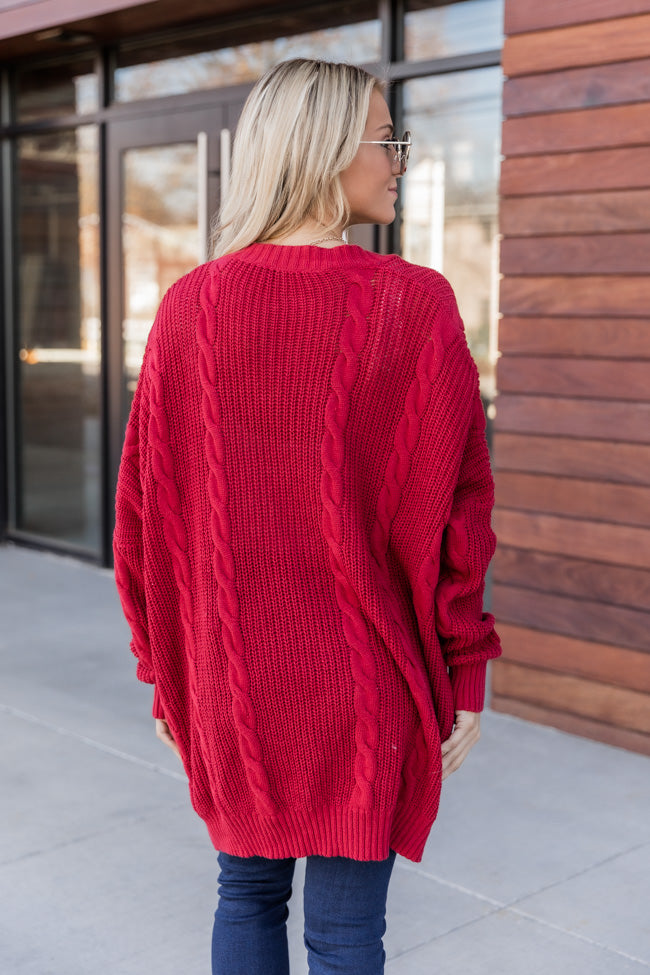 Won't Change My Heart Red Cardigan