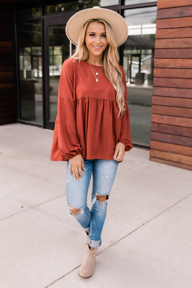 Divine Evenings Rust Blouse