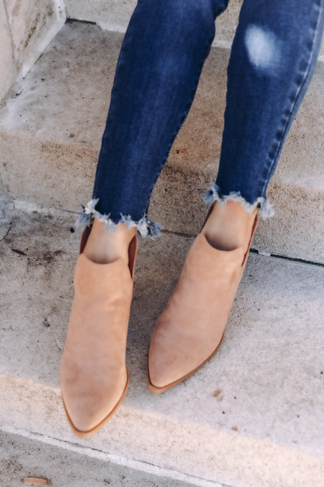 Mila Taupe Booties